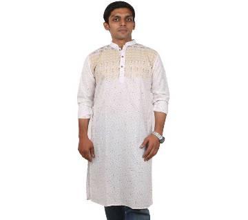 Menz Semi Long Cotton Panjabi
