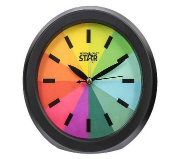 Winning Star Rainbow Wall Clock