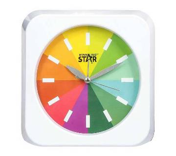 Winning Star রেইনবো ওয়াল ক্লক