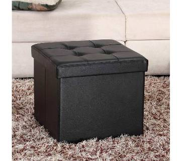 "Square Shape PU Leather Rest Stool 13""13""13"" - Multi Color"