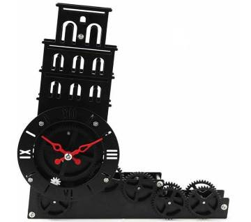 Leaning Tower of Pisa Desk Clock - Black