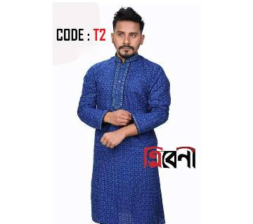 Blue cotton punjabi