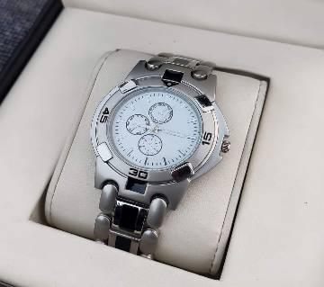 Silver formal wrist watch for men