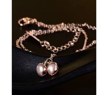 Two Balls Rose Gold Color Double Layer Anklet