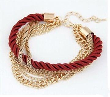 Multi-layer Woven Alloy Metal  Bracelet