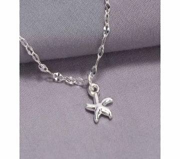 Silver Plated Starfish Ankle Chain Anklet