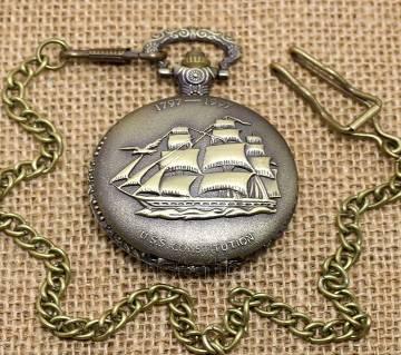 Fob navy chain watch