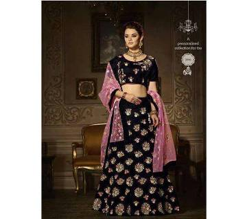Semi Stitched Soft Georgette Lehenga - Copy