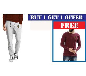 Mens Sweatpant With Free Full Sleeve T-Shirt