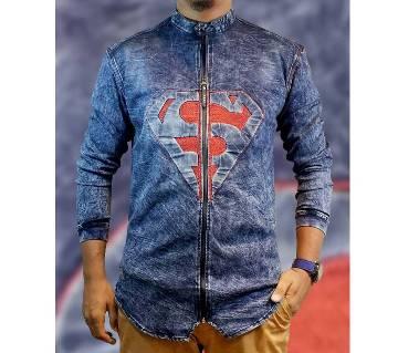 Superman Menz Denim Full Sleeve Jacket