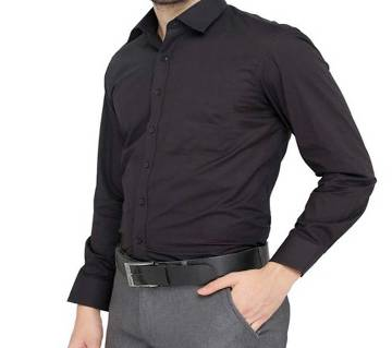 Menz Cotton Solid Color Formal Shirt