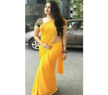 indian wetless jorjet saree