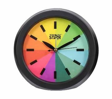Winning Star Rainbow Wall Clock