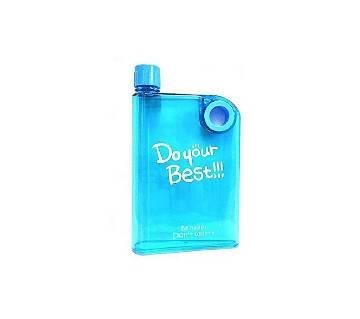 Notebook Transparent Water Bottle - 380ml