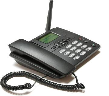 GSM Sim Supported Land Phone - Black