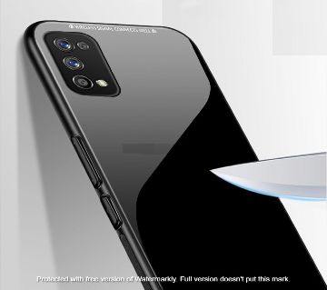 For Realme 7 pro Tempered Glass Case Luxury Glass Phone Cover