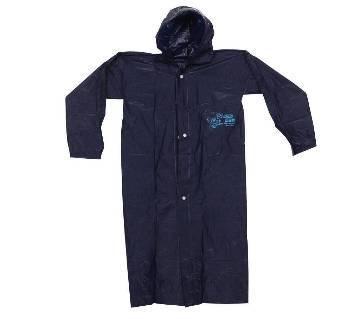 Polyester Rain Coat - Navy Blue