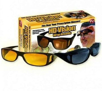 2 in 1 Night Vision Polarized Anti Glare Glass