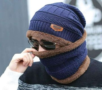 Winter Cap And Neck Warmer For Men