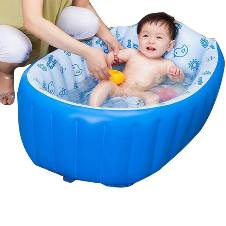Inflatable Baby Swimming Pool With Pumper for Kids - Multi Color