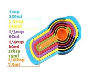 Rainbow Measuring Cup Set - MultiColour