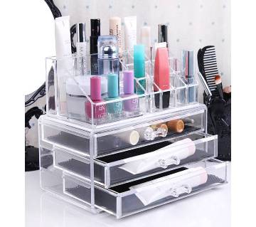 Cosmetics storage rack