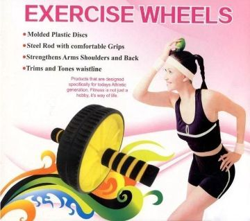 Twin Abdominal Exercise Wheels