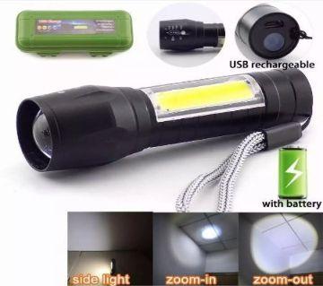 Telescopic Zoom Flash Light Xpe+COB