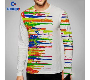 colorful full sleeve cotton gents t-shirt