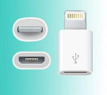 Micro USB to 8 Pin lightning Charger Adapter