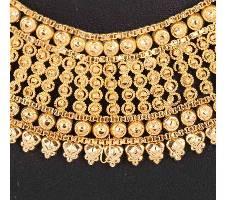 Golden গোল্ড প্লেটেড নেকলেস সেট বাংলাদেশ - 5792502