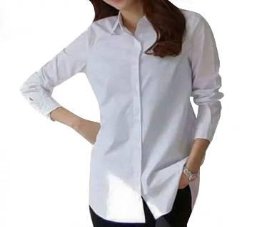 Ladies Stitched Cotton Shirt