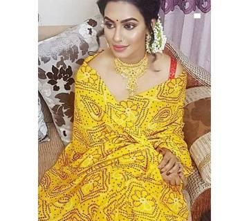 Indian Chundri Silk Sharee