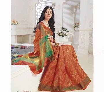 Rajguru Heena Tosor Silk Katan Sharee