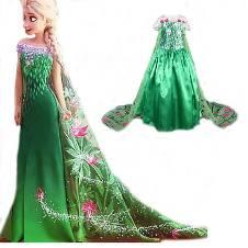 Queen Elsa (Green) কস্টিউম ফর কিডস