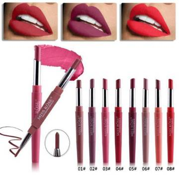Miss Rose 2 in 1 Lipstick And Lipliner - Shade#1-8