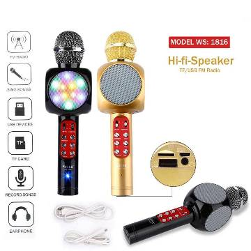 Wireless Karaoke Handheld Microphone USB KTV Player Bluetooth Mic Speaker
