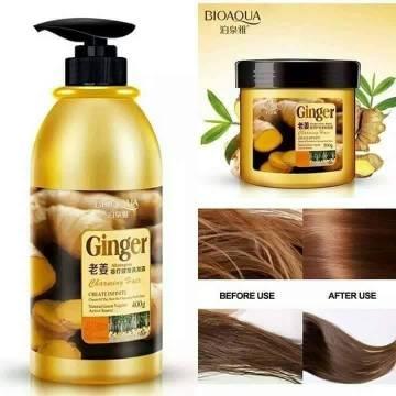 Bioaqua Ginger Shampoo and Hair Mask Package