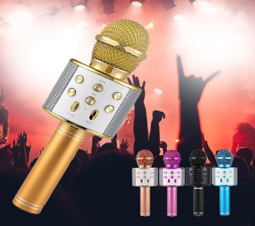 WS-858 Wireless Professional Condenser Karaoke MIC with Bluetooth Stand for Studio Recording - 1 pcs