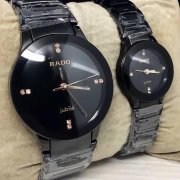Rado Analog Couple Watch For Man & Women -Golden