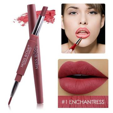 Miss Rose 2 in 1 Lipstick And Lipliner - Shade#1 (3.5g)