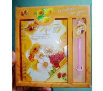 Lock Diary Valentine Gift Set