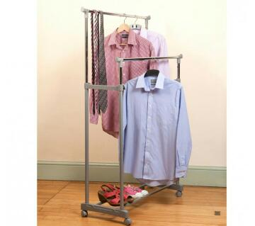 Deluxe Tidy Rail Clothes And Shoe Rack