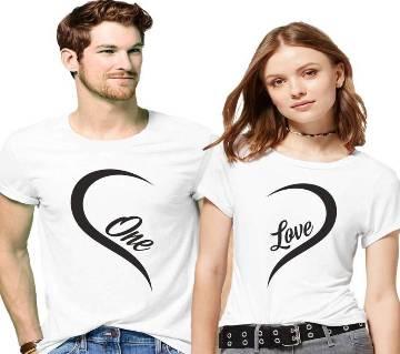 Valentine Celebration Couple Round Neck T-shirt Combo Pack