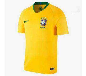 2018 World Cup Brazil Home Jersey - Half Sleeve
