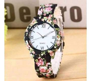 floral printed watch