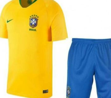 World Cup 2018 Brazil Half Sleeve Home Jersey - China