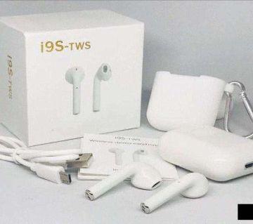 i9s tws Wireless Bluetooth earphones Wireless Headsets With Free Box -White