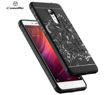 ড্রাগন ব্যাক কভার ফর Xiaomi Redmi Note 4X(ব্ল্যাক)