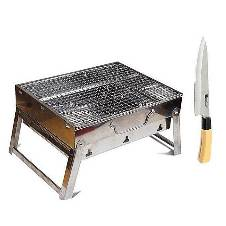Portable Bbq Stove with Knife - Multi Color